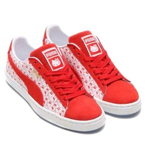 PUMA x HELLO KITTY Red & White sneakers